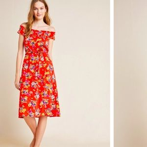 Anthropologie Colloquial Off-The-Shoulder Dress 10